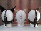 Puppy play, Petplay head harness, leather, lockable,